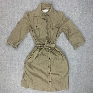 Banana Republic size 2 khaki shirt dress